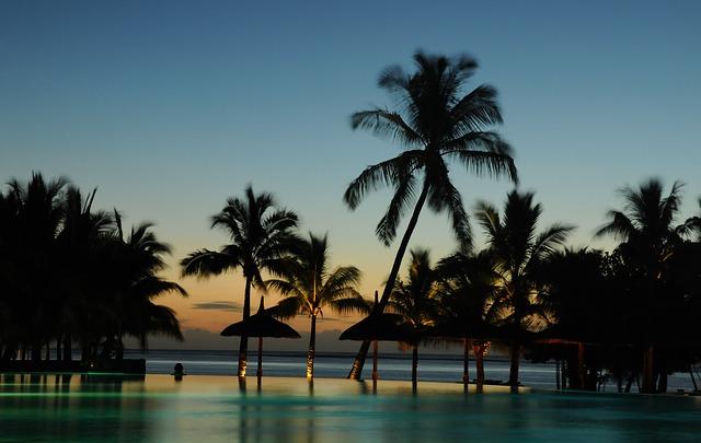 večer na Maledivách