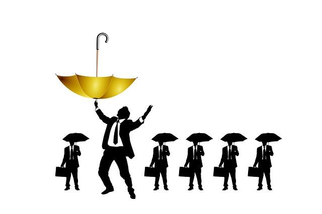 zlatý deštník
