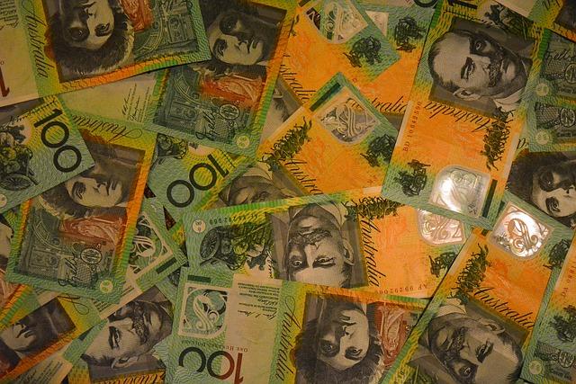 australské dolary jako tapeta