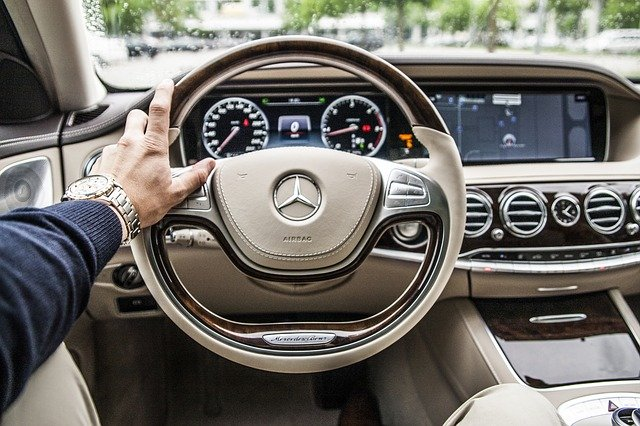 Mercedes interiér