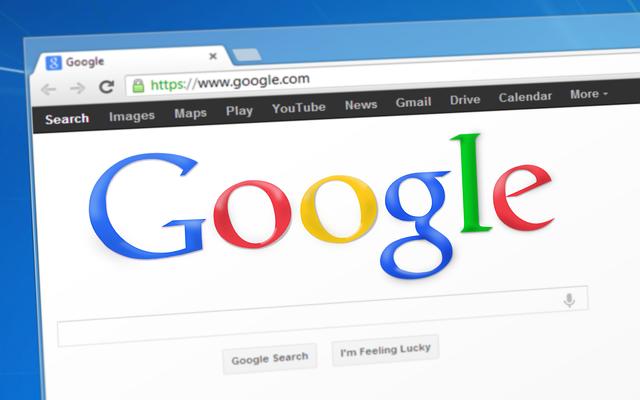 úvodní stránka vyhledávače Google
